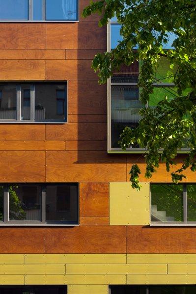 Ausschnitt Nordfassade Baugemeinschaft THF, Blaufisch Architekten Götte und Renatus, ©Ouwerkerk
