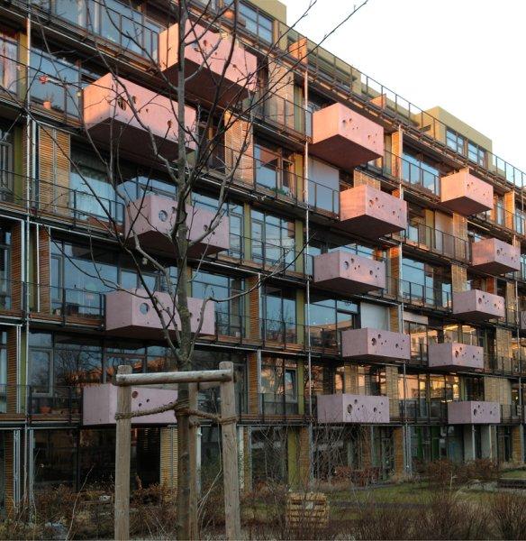 Südfassade Abenddämmerung,Blaufisch Architekten Götte und Renatus