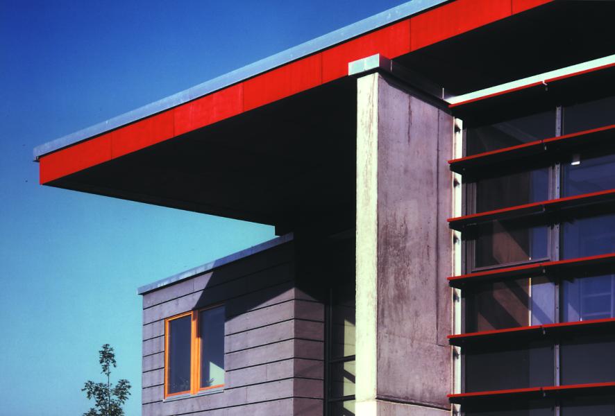 Detail Westansicht, Blaufisch Architekten Kever und Renatus