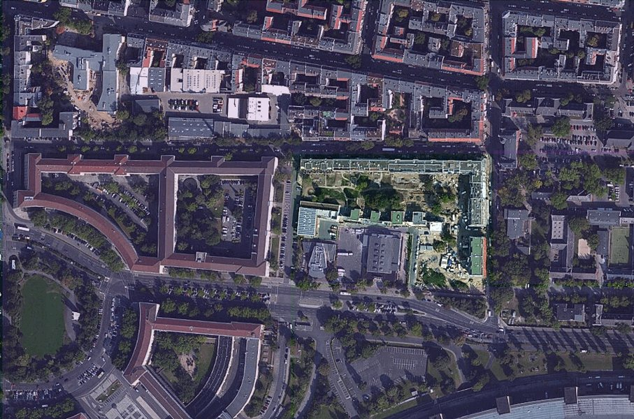 Luftbild neues Stadtquartier